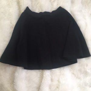 Charlotte Russe Black Skater Skirt